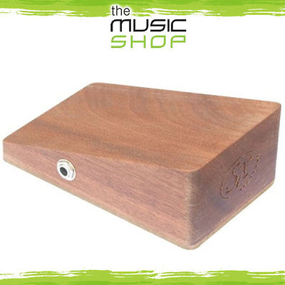 Essex Mahogany Wooden Stomp Box - Active Pickup - SX Stompbox - Slant Top - New