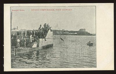 Ireland Derry PORT STEWART Diving Competition PPC pre 1919