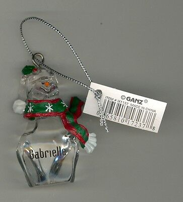 Ganz Clear Glass Resin Scarf Ornament Personalized DENISE New With Tags