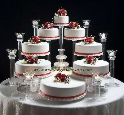 8 TIER WEDDING CAKE STAND STANDS / 8 TIER CANDLE STANDS