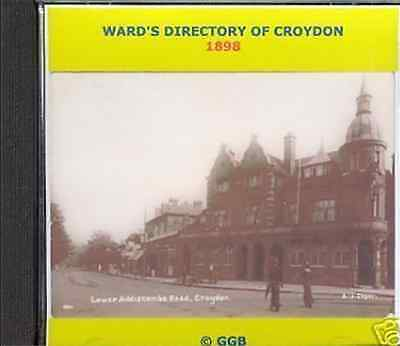 Genealogy Directory Of Croydon & District 1898 Cd