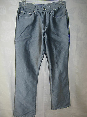 "VTG 80's Watch LA Blue ""Sharkskin"" Jeans Size 7 / 8 High Waisted Clubwear"