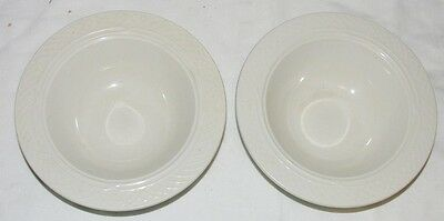 """Homer Laughlin Gothic Two 7.1/8"""" Cereal Soup Bowls"""