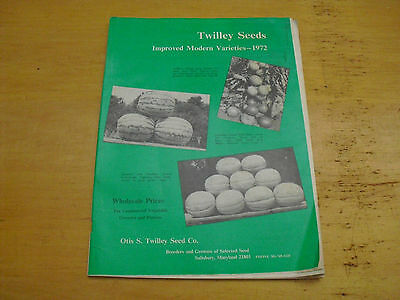 1972 Otis S. Twilley Seed Co. Improved Modern Varieties