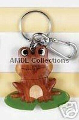 "Wildlife Domestic Animals : Frog 2.5"" Wooden Keychain"