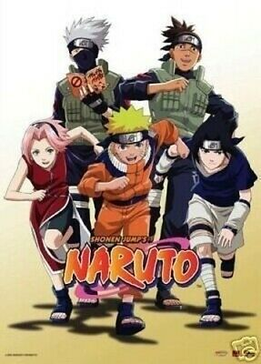 "Naruto: In Group Of 5,  Fabric Wall Scroll 31""X43"""