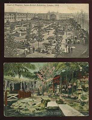JAPAN-BRITISH 1910 Exhibition 2 early PPCs