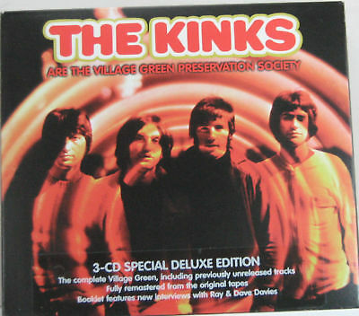 Kinks #Are the village green preservation society# Deluxe Ed. TRIPLO CD USATO nM
