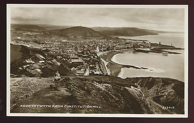 Wales Cardiganshire ABERYSTWYTH from hill RP PPC