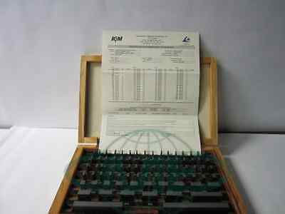 81 PCS/SET GAGE BLOCK, GRADE A-. W. NIST TRACEABLE CERTS.-Calibrated in USA-new