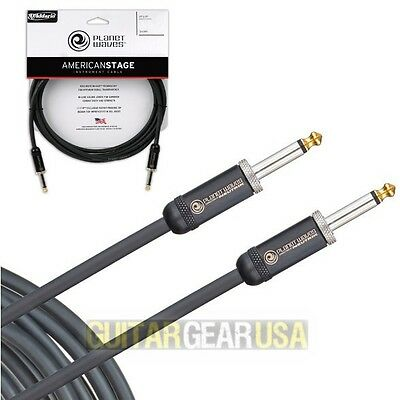 PLANET WAVES 15 FT AMERICAN STAGE INSTRUMENT CABLE -professional 15' guitar cord
