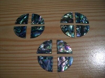 12 Paua  Shell Corner Pieces - Inlay - Scrapbooking