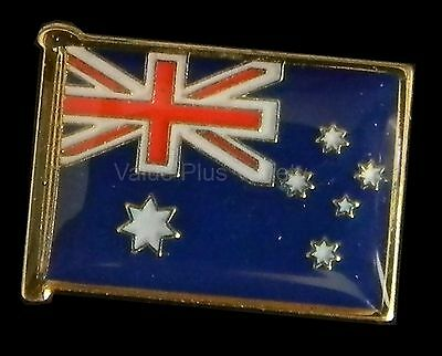 Australian Souvenir Enamel Australia Flag Hat Pin Lapel Badge Gold Plated