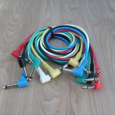 """6pc 1/4"""" color coded patch cord set TS-90 to TS-90 1ft"""