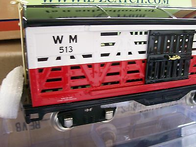 Lionel Lines Corporation MTH Tinplate 513 Std. Gauge Cattle Car Western Maryland