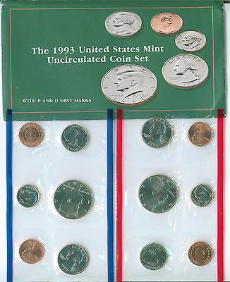 1993 United States Uncirculated Mint Set P And D