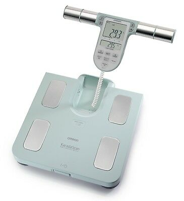 Omron BF511 Body Composition and Body Fat Monitor Bathroom Scale - Turquoise New