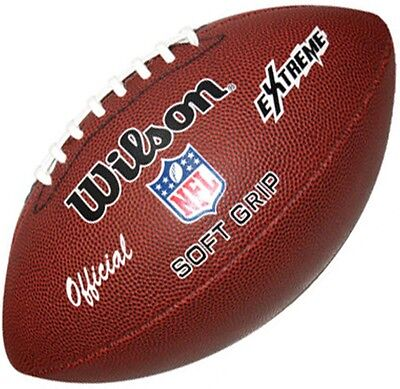 WILSON NFL EXTREME American Football Ball Soft Grip SIze 9 Adults NEW