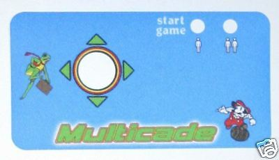 New Multicade Cocktail Set Of Control Panel Overlays