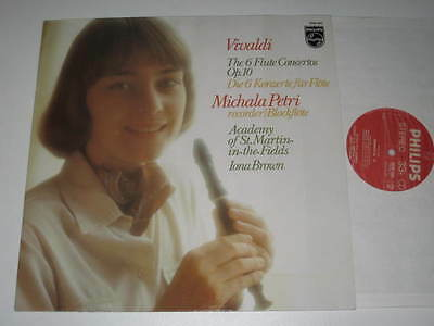 LP/VIVALDI/6 FLUTE CONCERTOS/MICHALA PETRI/IONA BROWN/Philips 9500942 NEAR MINT