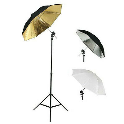 Photography Photo Studio Flash Mount Umbrellas Kit Three Umbrellas