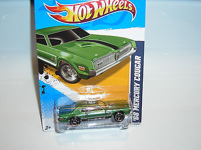 K-MART ONLY 2012 ''MUSCLE MANIA'' #119 = `68 MERCURY COUGAR = GREEN