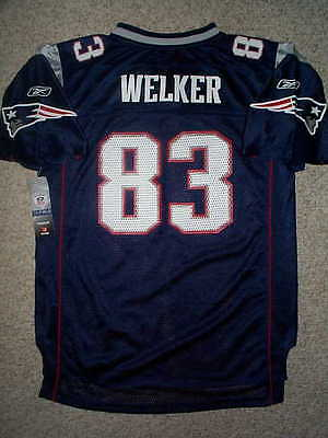 2011-2012 REEBOK New England Patriots WES WELKER nfl Jersey YOUTH KIDS BOYS 5-6