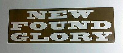 New Found Glory Not Without A Fight Brown Guitar Case Amp Rare Promo Sticker