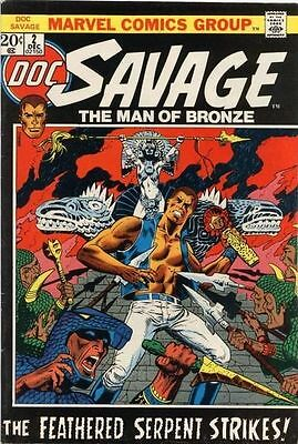 DOC SAVAGE #2 Very Good, Ancient Temple, Man of Bronze, Marvel Comics Group 1972