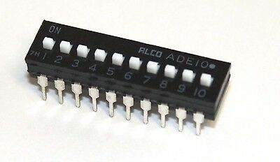 DIP Switch, 10 Position Slide Switch, Low Profile