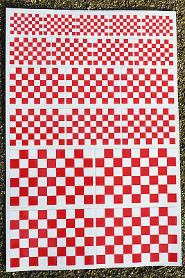CAFE RACER HOT ROD red/white Chequered Flag stickers declas race bike superbike