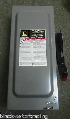 New In Box Square D 30 Amp Hu361 Heavy Duty Safety Switch  New