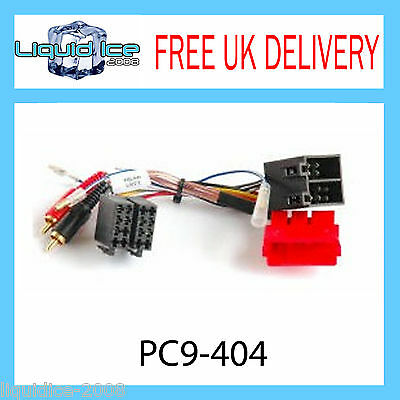 PC9-404 AUDI A2 A3 A4 A6 A8 AMPLIFIED RCA to ISO LEAD HALF AMLIFIED SYSTEMS