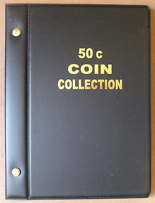 "VST AUSTRALIAN COIN ALBUM for 50c COLLECTION 1966 to 2016 MINTAGES PRINTED ""New"""