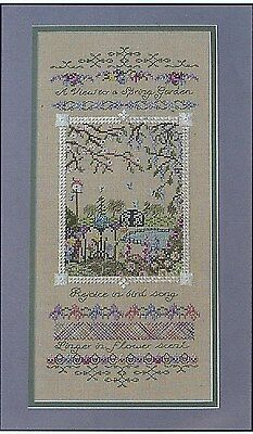 A View To A Spring Garden Sampler Counted Cross-Stitch Chart - Black Swan Design