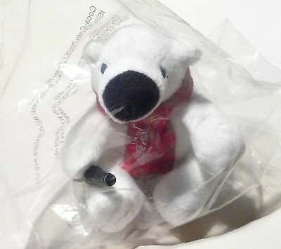 COCA COLA Limited Edition POLAR BEAR PLUSH TOY Scarf SINGAPORE Chinese New Year