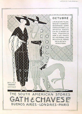 """GATH & CHAVES, SOUTH AMERICAN STORE. MAGAZINE VINTAGE AD """"Plus Ultra"""" 1919"""