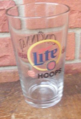 Miller Lite Cincinnati Bear Cats Basketball Hoops Glass A True Pilsner Beer