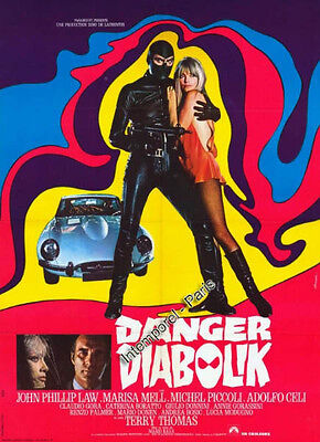 Reproduction affiche DANGER DIABOLIK - BAVA - Marisa MELL
