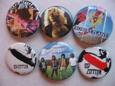 LED ZEPPLIN 6  DIFF 1980'S  PINS  A NUMBER OF  ROCK  PINS LISTED AT THIS SITE