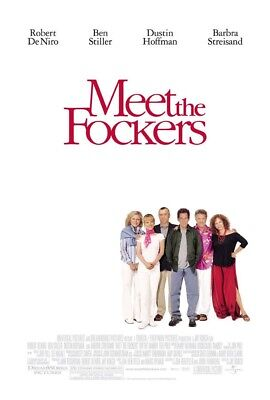 MEET THE FOCKERS MOVIE POSTER 2 Sided ORIGINAL 27x40 BEN STILLER