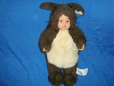 "Anne Geddes Squirrel 16"" 1998 Doll open Blue eyes"