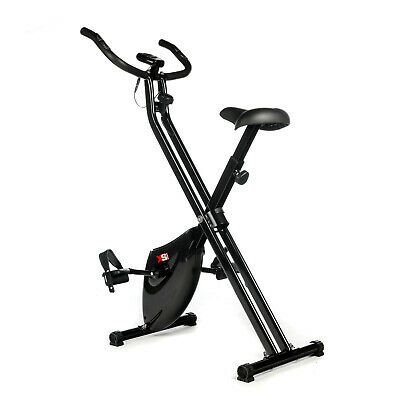 EXERCISE BIKE-1.6kg FLYWHEEL-FOLDING MAGNETIC X-BIKE FITNESS WORKOUT MACHINE