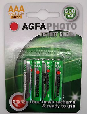 4 x BT GRAPHITE 1100 1500 2100 2500 AAA RECHARGEABLE BATTERIES - READY TO USE