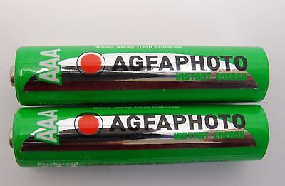 2 x BT GRAPHITE 1100 1500 2100 2500 AAA RECHARGEABLE BATTERIES - READY TO USE