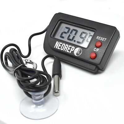 Reptile Vivarium Aquarium Digital Thermometer with remote probe