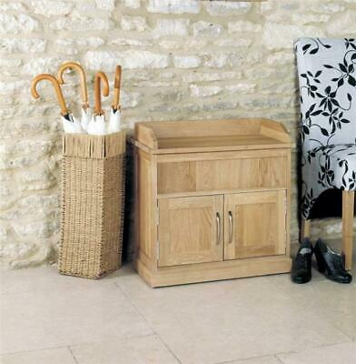 Fusion Solid Oak Wooden Hall Furniture Small Shoe Rack Cabinet Cupboard Storage