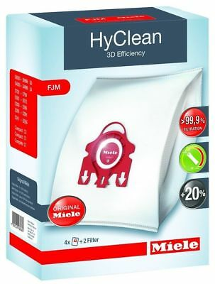 Miele Original F/j/m Vacuum Cleaner Bags Hyclean Fjm Synthetic+Filter