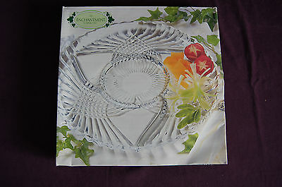 Enchantment glass 4 part relish serving tray plate platter Indiana Glass w/box