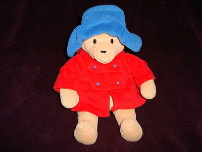 "Paddington Bear Plush Eden 9"" Teddy Bear red coat"